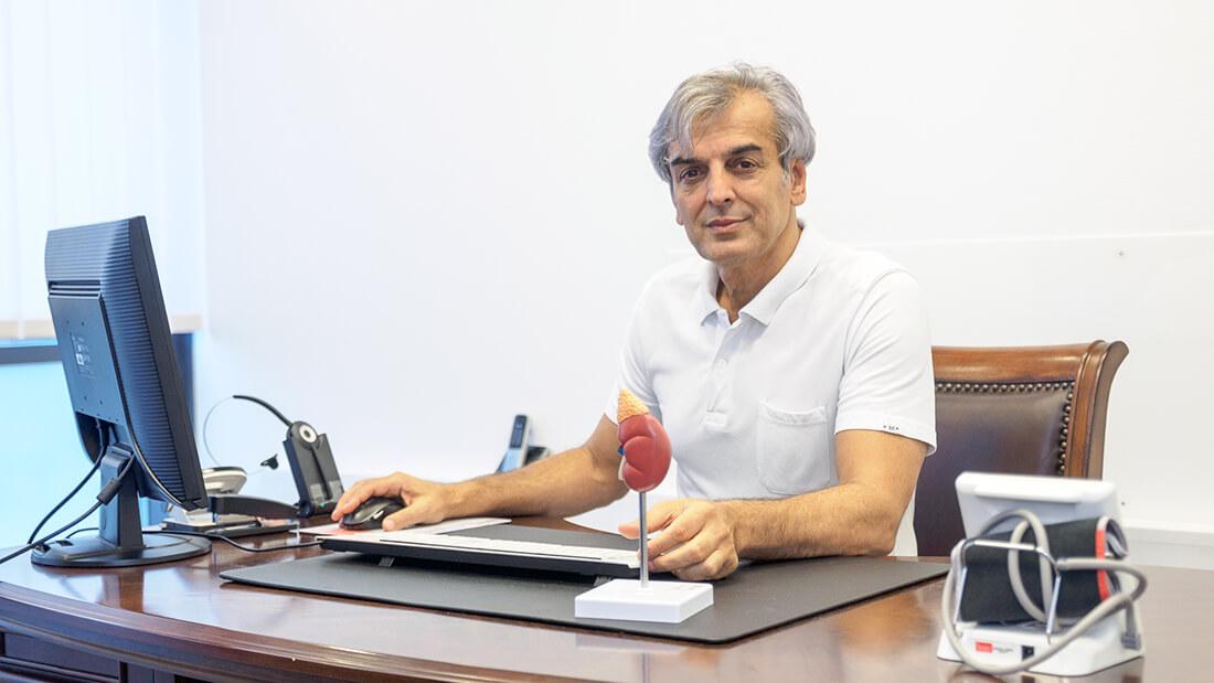 Die Praxis von Hausarzt Dr. Fürsch und Nephrologe Aazami Gilan in Königstein - Portrait Dr. Aazami Gilan